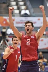 aaron russell usa volleyball   Usa volleyball, Volleyball team pictures,  Mens volleyball