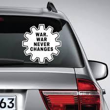 War War Never Changes Fallout Car Van Laptop Decal Sticker Ink Ink Inc