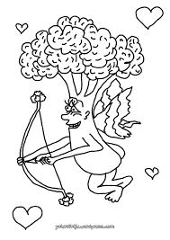 Broccoli Cupido Illustratie Kleurplaat Om In Te Kleuren En Te
