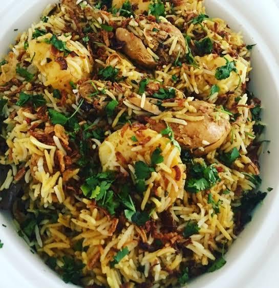 Chicken Tangidi kabab biryani