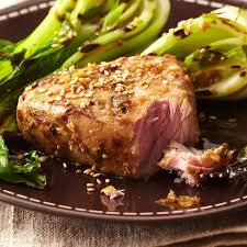 Plank-Grilled Tuna Steaks Recipe ...