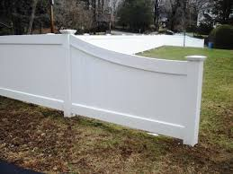Vinyl Privacy Fence With Tapered End Fence Design Vinyl Privacy Fence Vinyl Fence
