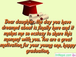 congratulations graduation messages wishes for daughter from parents