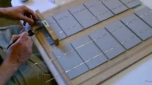 solar panel wiring soldering