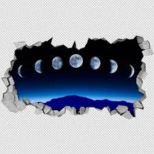Moonphase 3d Wall Decal Awesome Stuff 365