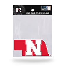Nebraska Huskers Die Cut Static Cling Decal Sticker 5 X 2 New Car Win Hub City Sports