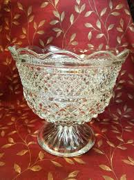 pin on glass compote