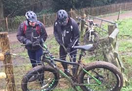 Shocking Footage Of Cyclists Trying To Remove Bike From Electric Fence Video The Bike Comes First
