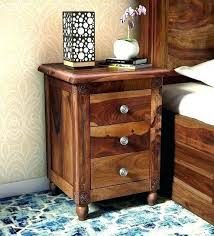 real wood bedside tables solid bedroom