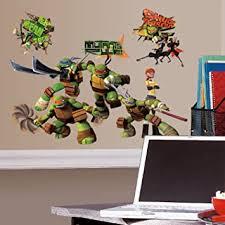 Amazon Com Roommates Teenage Mutant Ninja Turtles Peel And Stick Wall Decals Rmk2246scs Tmnt Home Improvement