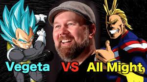 Christopher Sabat on Vegeta vs All Might - YouTube