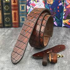 luxury top thick leather men belt