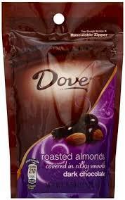 silky smooth dark chocolate almonds