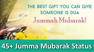 jummah mubarak status captions and greetings for whatsapp
