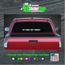 In God We Trust Rear Window Sticker Custom Sticker Shop