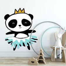 Panda Ballerina Wall Decal Labeldaddy