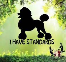 I Have Standards Standard Poodle Car Window Vinyl Decal Sticker