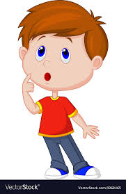cute boy cartoon thinking royalty free