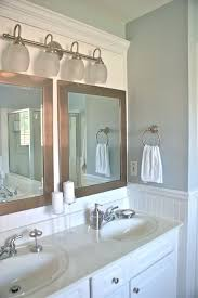 master bath vanity 2 mirrors 1 light