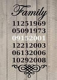 Amazon Com Family Birthdates Timeline Wall Vinyl Sticker Decal 16 W X 32 40 H Handmade