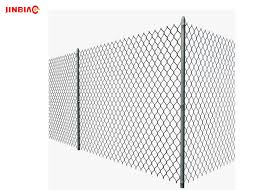 Hot Dip Galvanized Chain Link Fence Pvc Coated Chain Link Fence Jinbiao