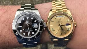 rolex steel vs gold weight difference