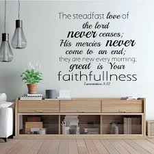 Bible Verse Steadfast Love Of The Lord Christian Vinyl Decor Wall Decal Customvinyldecor Com