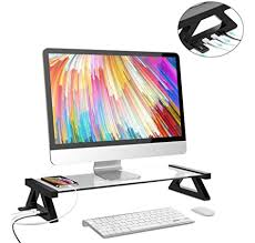computer monitor stand with 4 usb ports