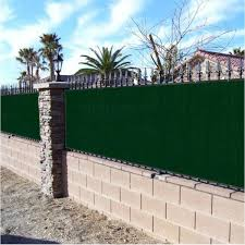 Boen 6 Ft X 50 Ft Green Privacy Fence Screen Netting Mesh With Reinforced Grommet For Chain Link Garden Fence Pn 30058 The Home Depot