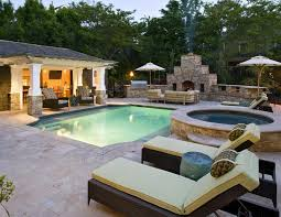 this outdoor space has it all pool