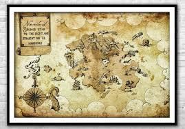Neverland Map Peter Pan Nursery Canvas Print Peter Pan Wall Art Home Decor Ebay