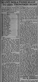Ada Thompson Memorial Home - Newspapers.com
