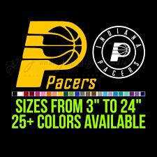 Indiana Pacers Vinyl Decal J And J Design Studio