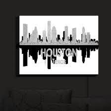 Illuminated Wall Art Angelina Vick City Iv Houston Texas Dianoche Designs