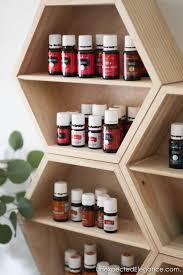 easy diy essential oil wall storage