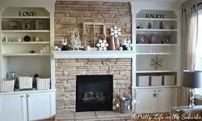 fireplaces with bookshelves on each