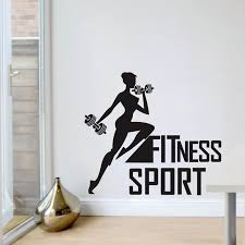 Fitness Wall Art Stickers Sport Health Gym Exercise Decals Vinyl Room Home Decor Ebay