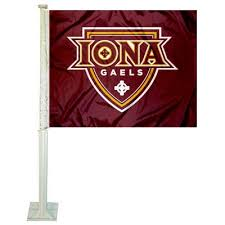Iona College Gaels Logo Car Flag And Car Flags For Iona College Gaels