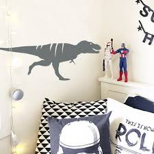 Tyrannosaurus Rex Dinosaur Wall Sticker Removable Decal Made Etsy
