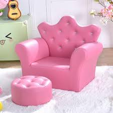 Amazon Com Kanizz Living Room Kids Room Kindergarten Sofa With Footrest Sturdy Armrest Sofa With Ottoman Pvc Leather Cover Luxury Pink Sofa Armrest Couch Diamond Buckle Button Kitchen Dining