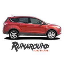 Ford Escape Runaround Upper Body Line Vinyl Graphics Decal Stripe Kit For 2013 2014 2015 2016 2017 2018 2019 Vinyl Graphics Ford Escape Stripe Kit