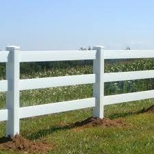 3 Rail Vinyl Fence Kauffman Lawn Furniture
