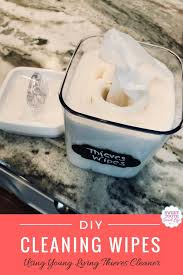 diy cleaning wipes using young living