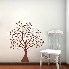 70 80cm Simple Classical Brown Tree Wall Stickers Home Decor Living Ro