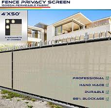 Customized Windscreen4less Heavy Duty Privacy Screen Fence In Color Solid Black 4 X 1 Brass Grommets W 3 Year Warranty 150 Gsm Decorative Fences