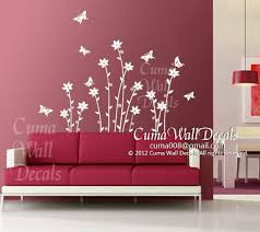 Vinyl Wall Decals White Flowers Vinyl Cuma Wall Decals