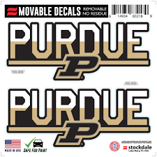 Purdue Boilermakers 6 X 6 Two Tone Repositionable Decal 2 Pack Set