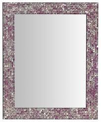 rectangular mosaic wall mirror