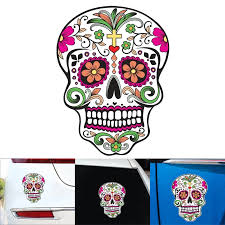 Cool Sugar Skull Color Vinyl Decal Sticker Window Truck Car Wall Car Car Stickers Aliexpress