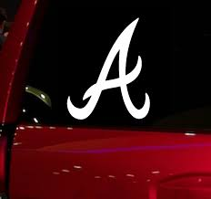 Braves Baseball Game Auto Window Sticker Decal For Car Truck Suv Decal 5 5 Car Window Vinyl Die Cut Sticker White Black Car Stickers Aliexpress
